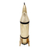 Gold United States Rocket Ship Musical Decanter Back | The Hour Shop