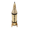 Gold United States Rocket Ship Musical Decanter Top | The Hour Shop