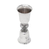 Vintage Fanciful Middle Silver Plate Double Jigger | The Hour