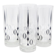 The Modern Home Bar Red Poppy Collins Glasses Front | The Hour Shop