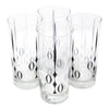 The Modern Home Bar Red Poppy Collins Glasses Top | The Hour Shop