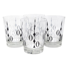 The Modern Home Bar Sword Play Double Old Fashioned Glasses Front | The Hour Shop