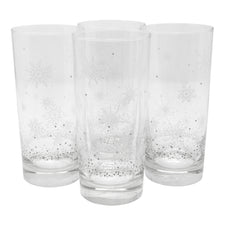 The Modern Home Bar Let It Snow Collins Glasses Front | The Hour Shop