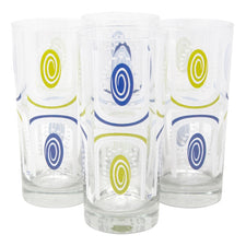 The Modern Home Bar Tiki Time Blue/Green Collins Glasses Front | The Hour Shop