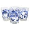 The Modern Home Bar Ribbon Dance Blue Old Fashioned Glasses Front | The Hour Shop