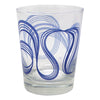 The Modern Home Bar Ribbon Dance Blue Old Fashioned Glasses Glass Design | The Hour Shop