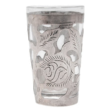Vintage Mexican Glass & Sterling Silver Shot Glass | The Hour Shop