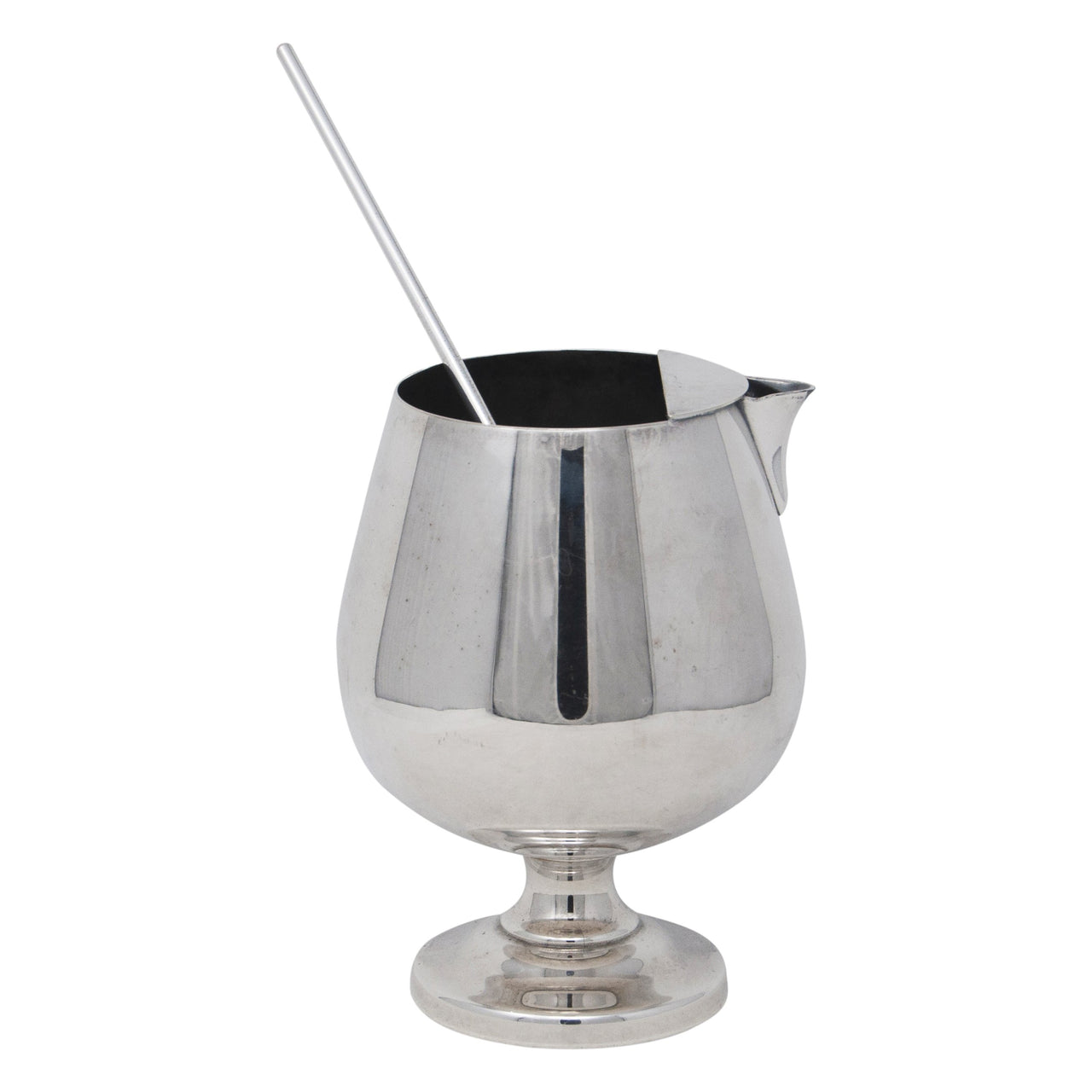 Vintage Poole Silver Plate Cocktail Pitcher & Stirrer | The Hour Shop