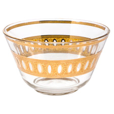 Vintage Culver Antigua 22k. Gold Embossed Punch Bowl | The Hour