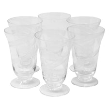 Vintage Etched Swirl Cocktail Glasses | The Hour Shop