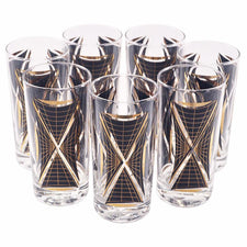 Black & Gold Graphic Collins Glasses, The Hour Shop Vintage