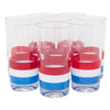Vintage Georges Briard Red, White & Blue Collins Glasses Front | The Hour Shop