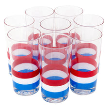 Georges Briard Red White & Blue Collins Glasses