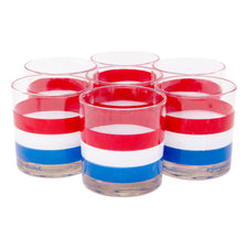 Georges Briard Red White and Blue Rocks Glasses