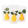 Vintage Mid Century Hand Painted Pears Glasses Front | The Hour Shop