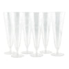 Etched Flower Crystal Pilsner Glasses