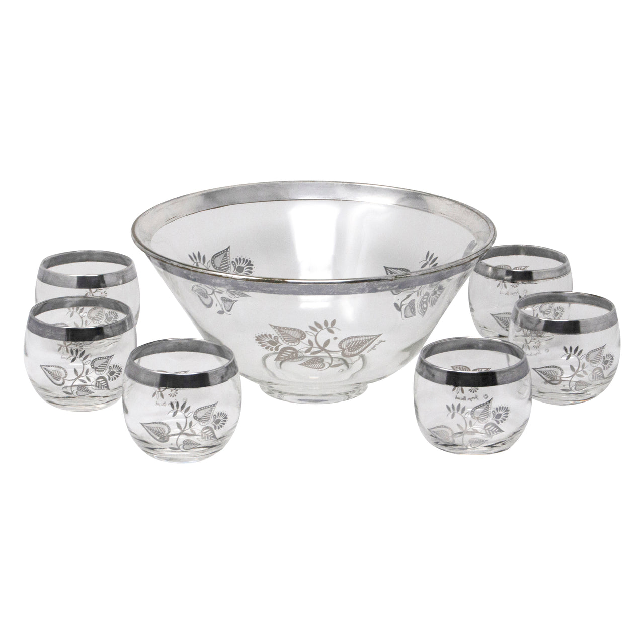 Vintage Georges Briard Silver Overlay Punch Bowl Set | The Hour Shop