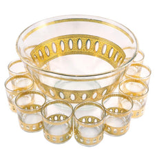 The Hour Shop, Vintage Culver Antigua Punch Bowl Set