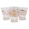 Vintage Fred Press Gold Fish Single Old Fashioned Glasses Front | The Hour Shop