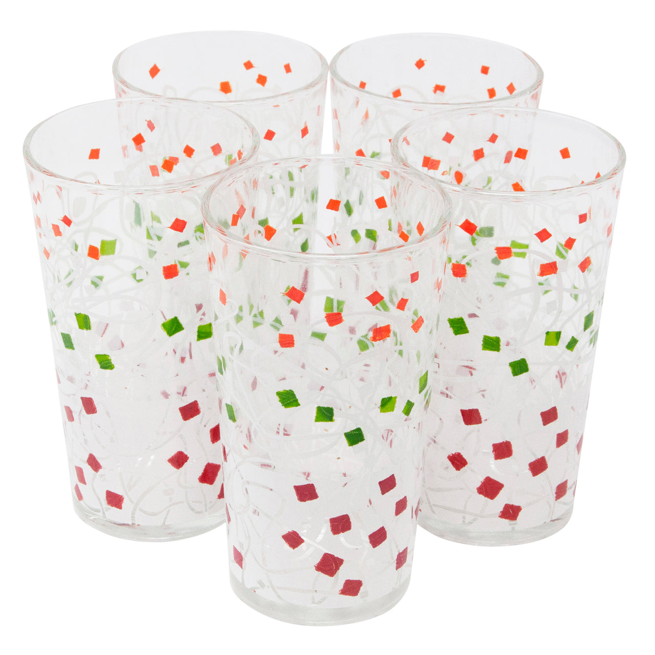 Vintage Confetti & Swirls Tumblers | The Hour Shop