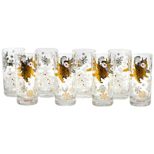 The Hour Shop, Vintage Holly Boy Christmas Collins Glasses