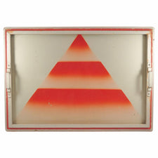 Red Pyramid Art Deco Cocktail Tray, The Hour Shop