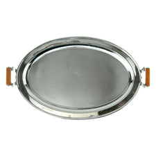 Vintage Manning Bowman Oval Serving Tray | The Hour Shop