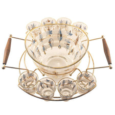 Autumn Leaf Punch Bowl Caddy Set, The Hour Shop