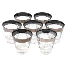 Mercury Band Single Old Fashioned Glasses | Set of 7