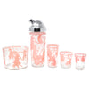 Vintage Pink Musical Pigs Cocktail Shaker Set Glass Sizes | The Hour Shop