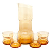 Vintage Amber MCM Cocktail Pitcher Set Front | The Hour Shop