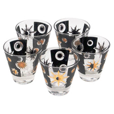 Vintage Fred Press Multi Color Flower Collins Glasses | The Hour Shop