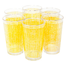 Yellow Woven Grid Tumblers