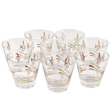 Vintage Fred Press Gold Angelfish Glasses | The Hour Shop