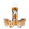 Fred Press White and Gold Trojan Horse Cocktail Pitcher Set Front | The Hour Shop