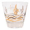 Vintage Fred Press Gold Angel Fish Double Old Fashioned Glasses Single | The Hour Shop