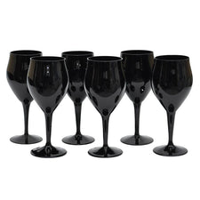 Black Amethyst Wine Stems, The Hour Shop Vintage Cocktail Glasses