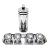 Vintage Chase Gaiety Chrome Shaker Set Top | The Hour Shop