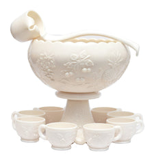 Westmoreland Milk Glass Punch Bowl Set, The Hour Shop