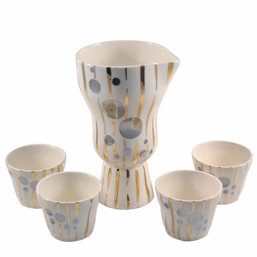 Art Deco Ceramic Bell Cocktail Pitcher Set, The Hour