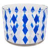 Vintage Blue & White Diamond Cocktail Shaker Set Ice Bucket | The Hour Shop