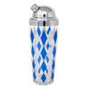 Vintage Blue & White Diamond Cocktail Shaker Set Shaker | The Hour Shop