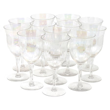 Vintage Iridescent Paneled Wine Glasses | The Hour Shop
