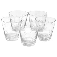 Vintage Crystal Etched Star Rocks Glasses | The Hour