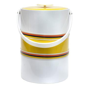 G. Briard White & Yellow Ice Bucket