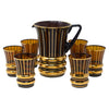 Vintage Art Deco Brown Amber & Gold Cocktail Pitcher Set | The Hour