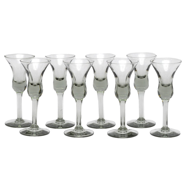 MCM Vintage Holmegaard Smoke Glass Cordials, The Hour Shop
