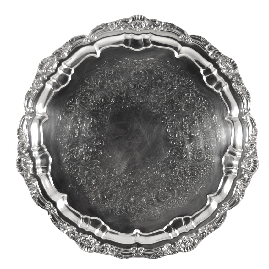Vintage Poole Silver Co. Round EPCA Round Tray | The Hour