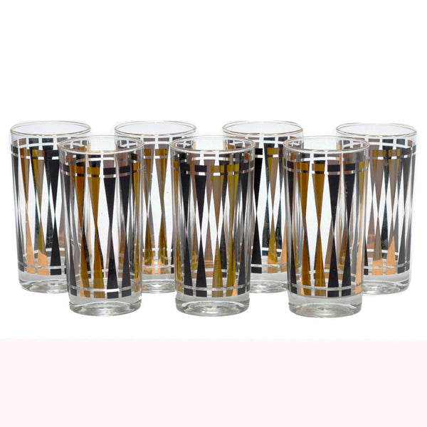Black & Gold Geometric Collins Glasses, The Hour Shop Vintage