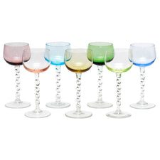 Multi Color Cocktail Coupe Glasses | The Hour Shop Vintage